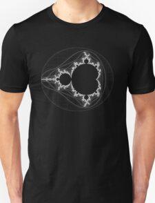 White - Linear Mandelbrot Unisex T-Shirt