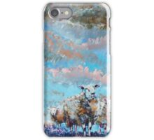 The Golden Flock - Colorful sheep painting iPhone Case/Skin