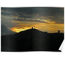 Glastonbury Tor at Sunset Poster