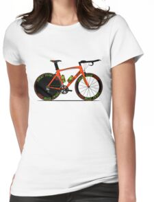 Time Trial Bike Womens Fitted T-Shirt