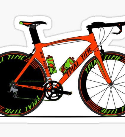 Time Trial Bike Sticker