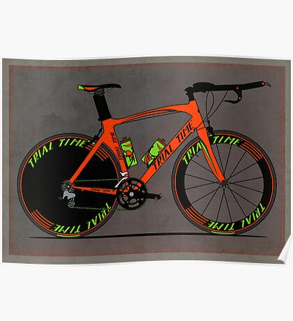 Time Trial Bike Poster