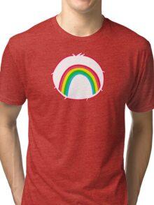 Cheerbear - Carebears - Cartoon Logo Tri-blend T-Shirt