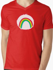 Cheerbear - Carebears - Cartoon Logo Mens V-Neck T-Shirt