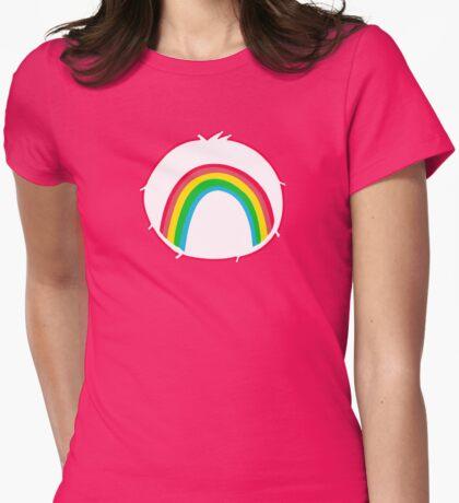 Cheerbear - Carebears - Cartoon Logo Womens Fitted T-Shirt