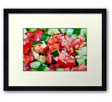 Vegetable salad / Arabic Salad Framed Print
