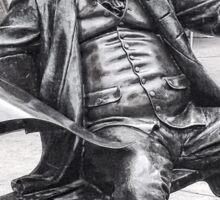 Life-Size, Bronze Statue, Benjamin Franklin, Country Club Plaza Sticker