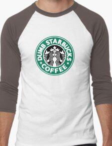 Dumb Starbucks Coffee Men's Baseball ¾ T-Shirt