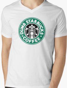 Dumb Starbucks Coffee Mens V-Neck T-Shirt