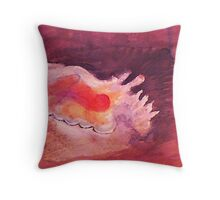 Conch shell, watercolor Throw Pillow