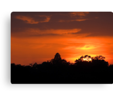 July Sunset and Silhouettes Canvas Print