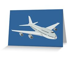 Commercial Jet Plane Airline Retro Greeting Card