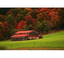 Autumn Barn Photographic Print
