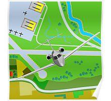 Commercial Jet Plane Airline Retro Poster