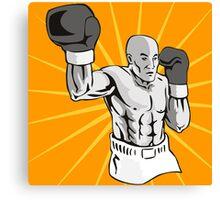 Boxer Boxing Knockout Punch Retro Canvas Print