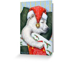 Christmas Eve Bear Greeting Card