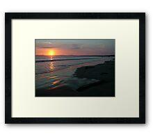 Rossnowlagh Beach Sunset Framed Print