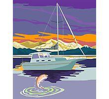 Sailboat Retro Photographic Print