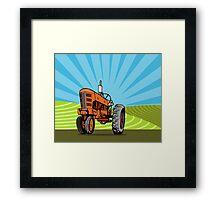 Vintage Tractor Retro Framed Print