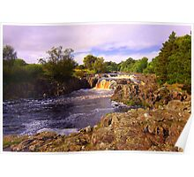 Low Force, River Tees, Upper Teesdale North England- Mid September Poster