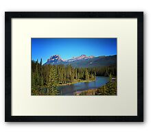 The Famous Castle Mountain Framed Print