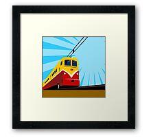 Electric Passenger Train Retro Framed Print