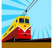 Electric Passenger Train Retro Photographic Print
