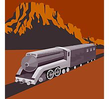 Steam Train Locomotive Retro Photographic Print