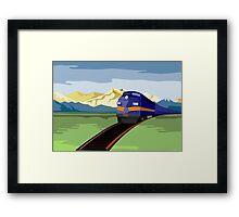 Diesel Train Retro Framed Print