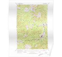 USGS Topo Map Washington State WA Pe Ell 243105 1953 62500 Poster