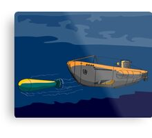 Submarine Boat Retro Metal Print