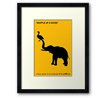 SNUFFLE UP A GOOSE Framed Print