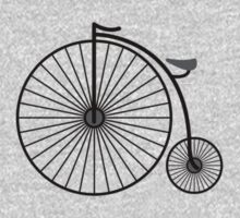 High Wheeler / Penny Farthing Tee (Small logo) by Colin Wilson