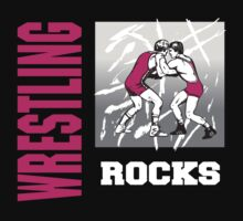 Wrestling Rocks by SportsT-Shirts