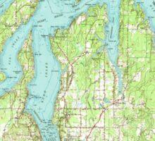 USGS Topo Map Washington State WA Olympia 242943 1949 62500 Sticker