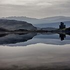 Ardvreck Castle across Loch Assynt by derekbeattie