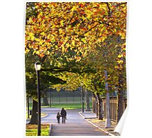 Autumn walk to school Poster
