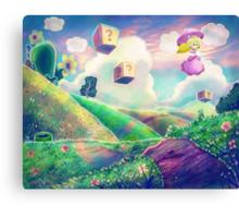 Princess Peach Landscape Canvas Print