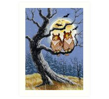 Hooty Who's There? Art Print