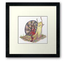 Snail Rider Framed Print