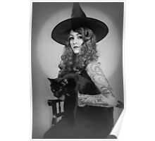 Retro Witch Poster