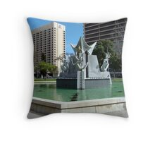 Victoria Square, Adelaide, Australia Throw Pillow