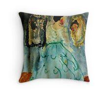Elegant, watercolor Throw Pillow