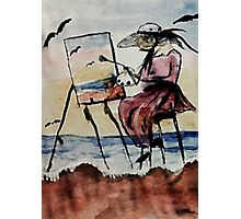 The plein air artist, watercolor Photographic Print