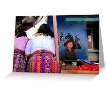 Mayan Market Bums Greeting Card