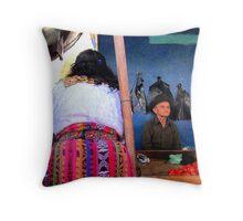 Mayan Market Bums Throw Pillow