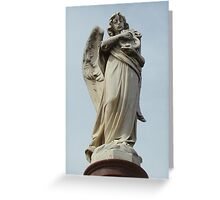 Angel headstone Greeting Card