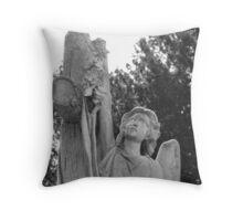 Angel headstone Throw Pillow