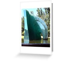 Glass sculpture, Adelaide Botanic gardens, Australia Greeting Card