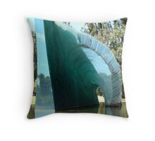 Glass sculpture, Adelaide Botanic gardens, Australia Throw Pillow